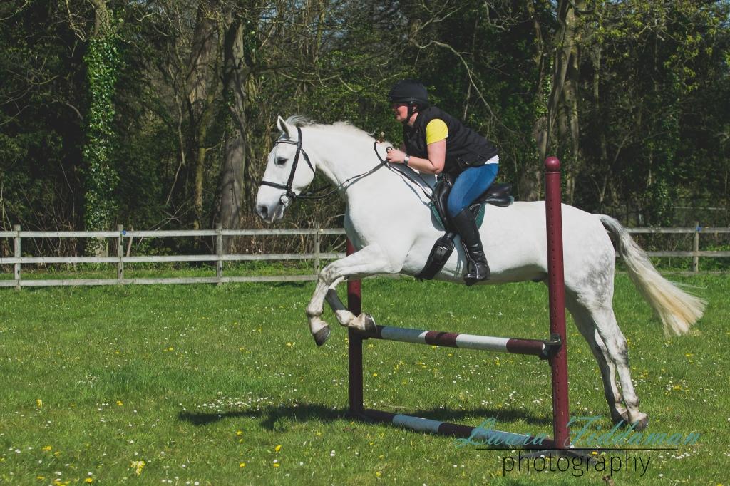 Sarah jumping Odie-19
